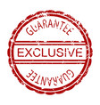 exclusive guarantee rubber stamp vector image
