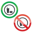 Fast food permission signs vector image