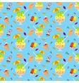 Ice cream and candies seamless pattern vector image