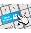 Keyboard Contact Us button with mouse hand cursor vector image