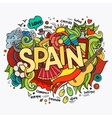 Spain hand lettering and doodles elements vector image