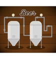 brewery beer production factory vector image