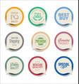 modern bubble speech sale sticker collection vector image