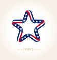 design element star with american flag colors vector image