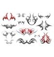 Body art tribal tattoo set vector image