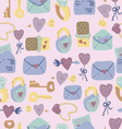Love Letter seamless pattern vector image