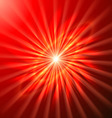 Bright space star in bright red vector image vector image