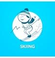 Skiing logo vector image