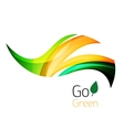 Abstract eco leag logo design made of color pieces vector image vector image