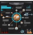 Inf Infographics Industrial buildings and vector image