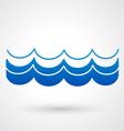 blue wave icon vector image