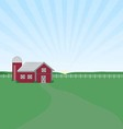 Farm Sunrise vector image