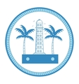 lighthouse maritime frame icon vector image