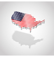 Map and flag of USA isolated vector image