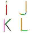 pencils alphabet vector image