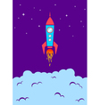 rocket new vector image