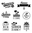 Set of summer holidays typography labels and signs vector image
