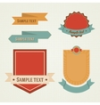 Vintage retro flat badges labels set vector image