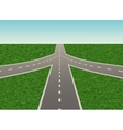 road junction on the highway vector image