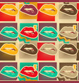 pop art lips copies seamless pattern vector image