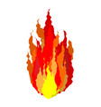 fire isolated flames sign on white background vector image