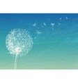 Abstract vintage background with flower dandelion vector image