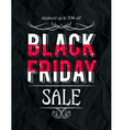 Black friday sale banner on crumple paper vector image vector image