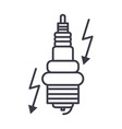 automobile ignition line icon sign vector image