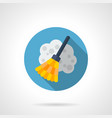broom flat round icon vector image