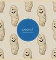 happy peanut seamless pattern vector image