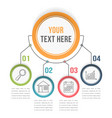 infographic template with four steps vector image