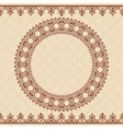 light beige background with brown ornament vector image