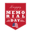 memorial day emblem vector image