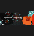 quantum computing physics technology science vector image