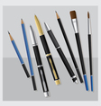 Realistic 3D Stationery vector image