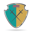 shield beauty and sweet vector image
