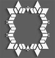 White geometrical frame vector image