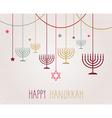 Hanukkah design vector image