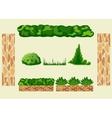 Set for landscape design vector image