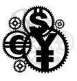 money gears vector image