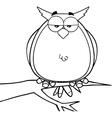 Owl cartoon vector image