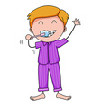 Brushing teeth vector image vector image