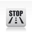 road stop icon vector image vector image