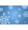 Blue winter bakground with snowflakes vector image