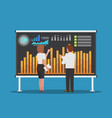 businessman and businesswoman analysis business vector image