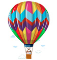 Children riding in the hotair balloon vector image
