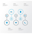 clothes colorful icons set collection of man vector image