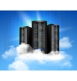 Cloud computing poster vector image