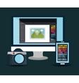 Creative process graphic design vector image