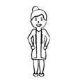 doctor female worker standing character vector image